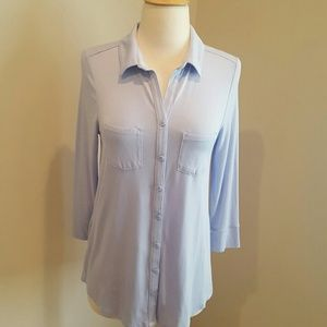 Lavender button front tee